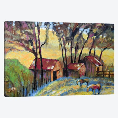 Old Ranch 3-Piece Canvas #KIP29} by Kip Decker Canvas Wall Art