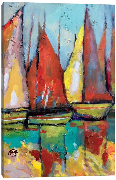 Old Tuna Boats Canvas Art Print