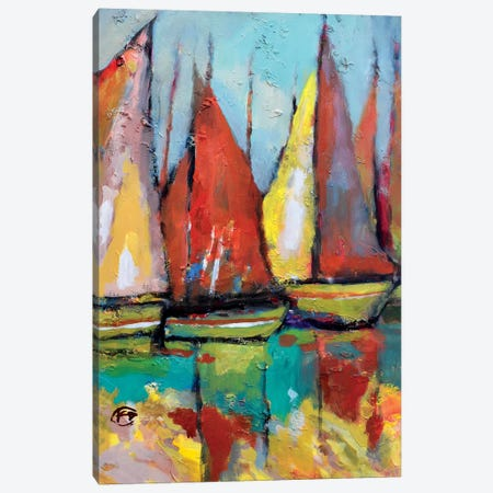 Old Tuna Boats Canvas Print #KIP30} by Kip Decker Canvas Print
