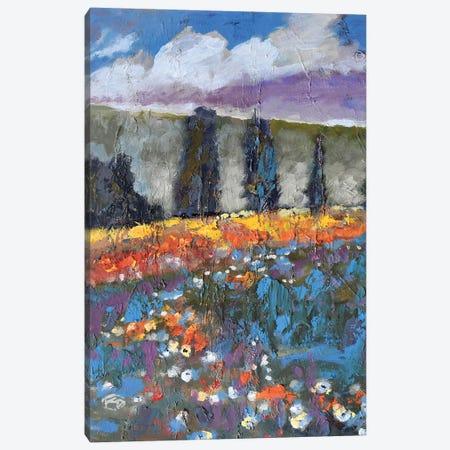 Poppies On A Hill Canvas Print #KIP34} by Kip Decker Canvas Wall Art