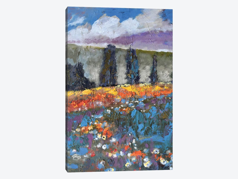 Poppies On A Hill 1-piece Canvas Art Print