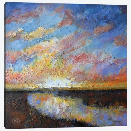 River Sunrise Canvas Print #KIP36} by Kip Decker Canvas Wall Art