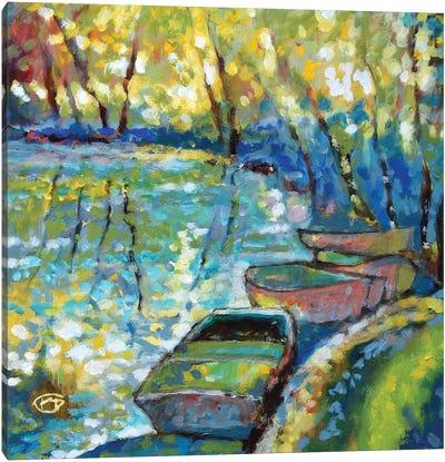 Summer Boats Canvas Art Print