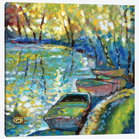 Summer Boats Canvas Print #KIP39} by Kip Decker Canvas Print
