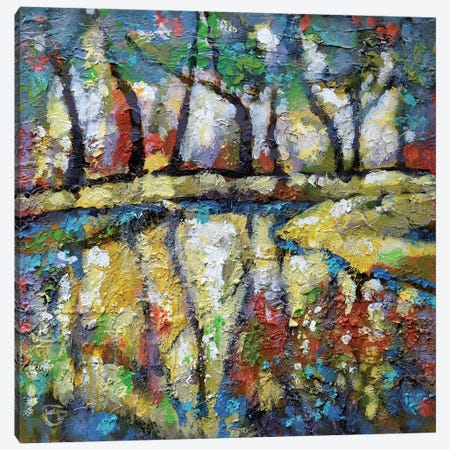 Summer Creek Canvas Print #KIP40} by Kip Decker Canvas Art