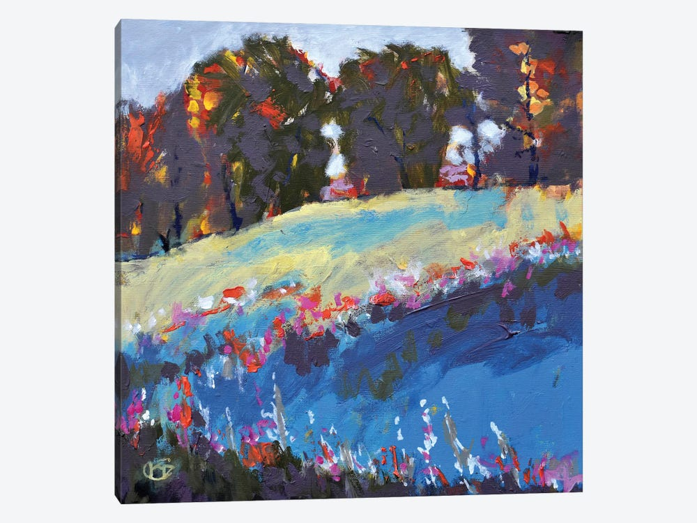 Trees On A Hillside 1-piece Canvas Artwork