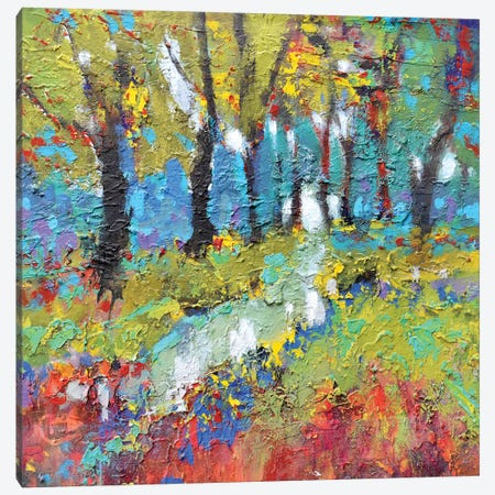 Woodland Trail Canvas Print #KIP48} by Kip Decker Canvas Art