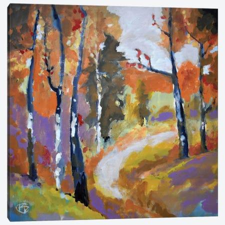 Autumn Trail Canvas Print #KIP4} by Kip Decker Art Print