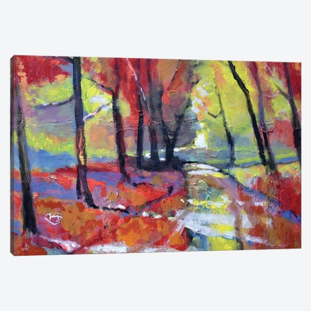 Autumn Road Canvas Print #KIP55} by Kip Decker Canvas Artwork