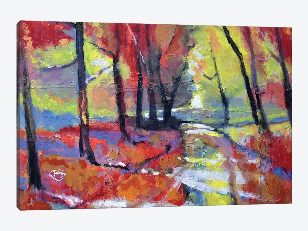 Autumn Road by Kip Decker 1-piece Canvas Artwork