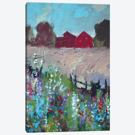 Two Barns Canvas Print #KIP56} by Kip Decker Canvas Wall Art