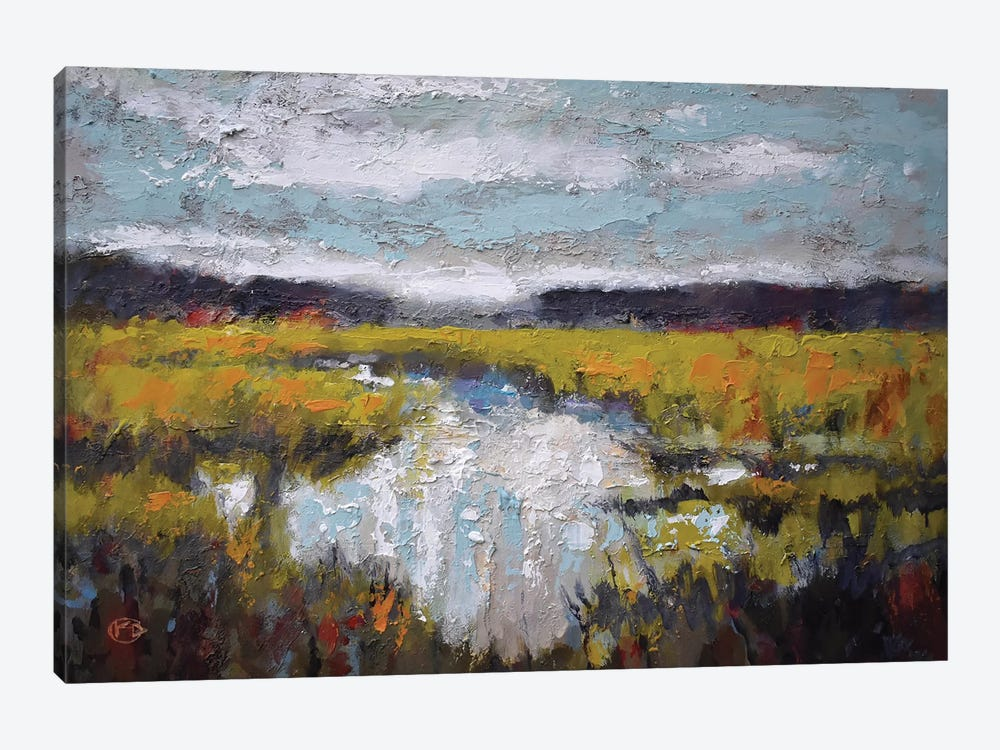 Clouds Over Marsh by Kip Decker 1-piece Canvas Print