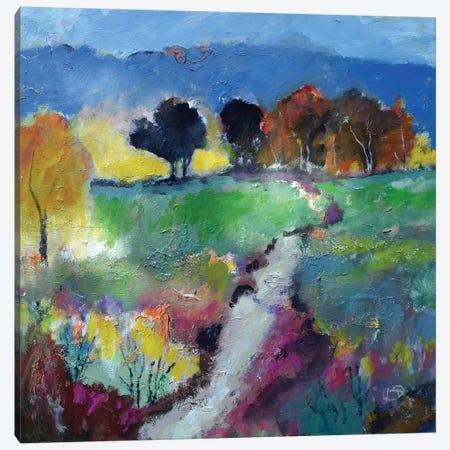 Green Fields Canvas Print #KIP63} by Kip Decker Canvas Art