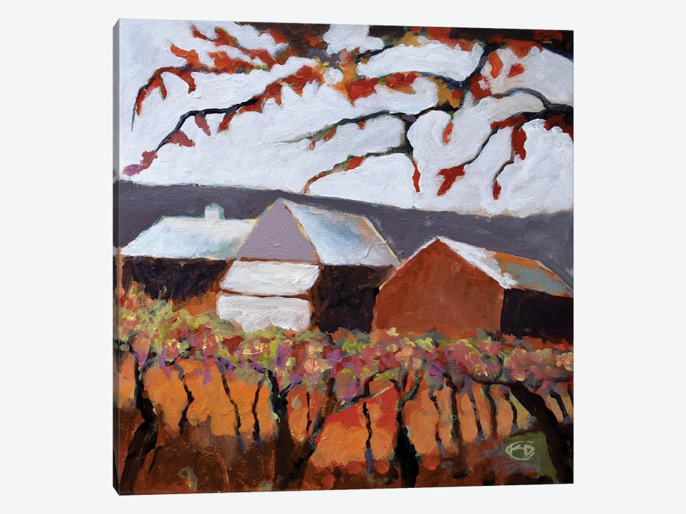 Autumn Vineyard by Kip Decker 1-piece Canvas Art
