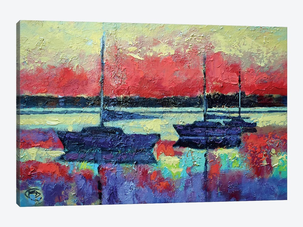 Sunrise On The Water by Kip Decker 1-piece Canvas Art