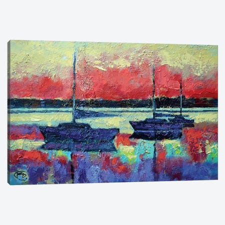 Sunrise On The Water 3-Piece Canvas #KIP71} by Kip Decker Canvas Art Print