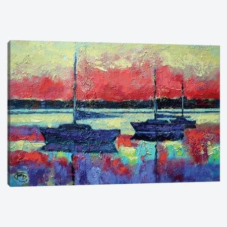 Sunrise On The Water Canvas Print #KIP71} by Kip Decker Canvas Art Print