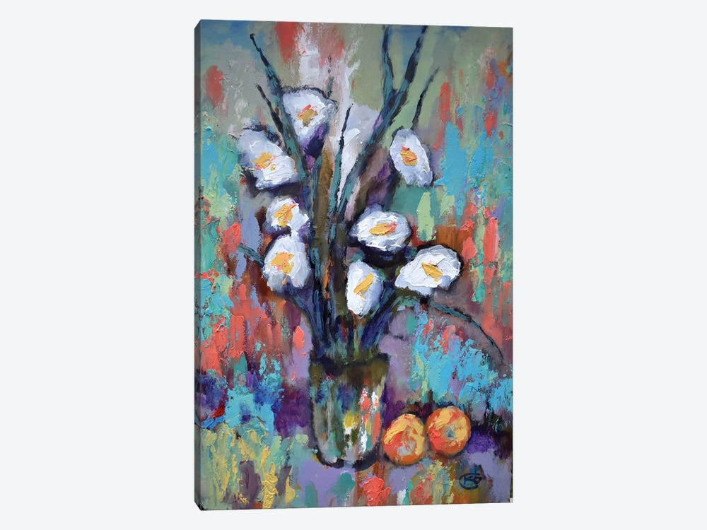 Gladiolas And Peaches by Kip Decker 1-piece Art Print