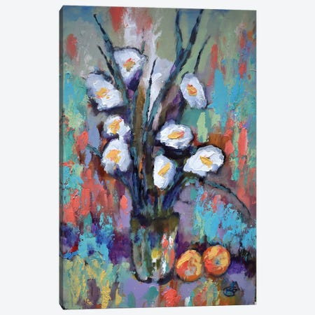 Gladiolas And Peaches Canvas Print #KIP72} by Kip Decker Canvas Print