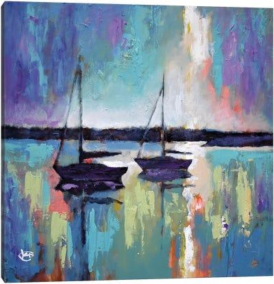 Light Breaking Through The Clouds Canvas Art Print