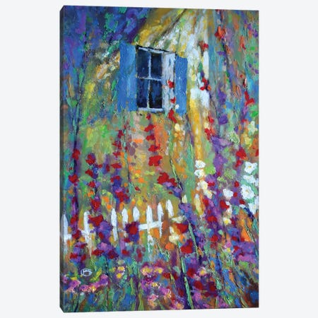 Back Window Canvas Print #KIP79} by Kip Decker Art Print