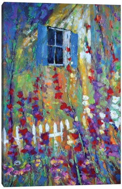 Back Window Canvas Art Print