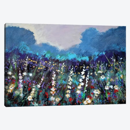 Cool Morning Flowers 3-Piece Canvas #KIP82} by Kip Decker Canvas Wall Art