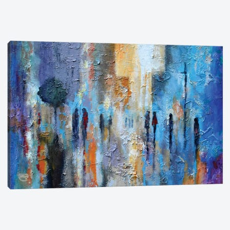 Downtown Friends Canvas Print #KIP83} by Kip Decker Canvas Wall Art
