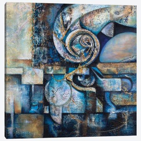 Blue Labyrinth Canvas Print #KJG5} by Kat Jaeger Canvas Artwork