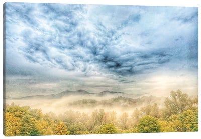 Fog On The Mountain Canvas Art Print