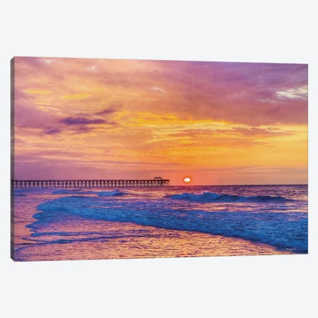 Golden Sunrise Canvas Print #KJN6} by Kathy Jennings Art Print