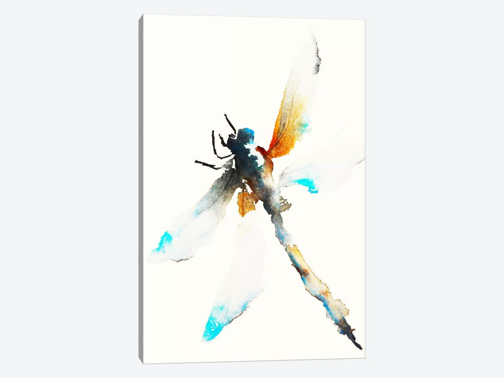 Blue & Brown Dragonfly by Karin Johannesson 1-piece Canvas Art