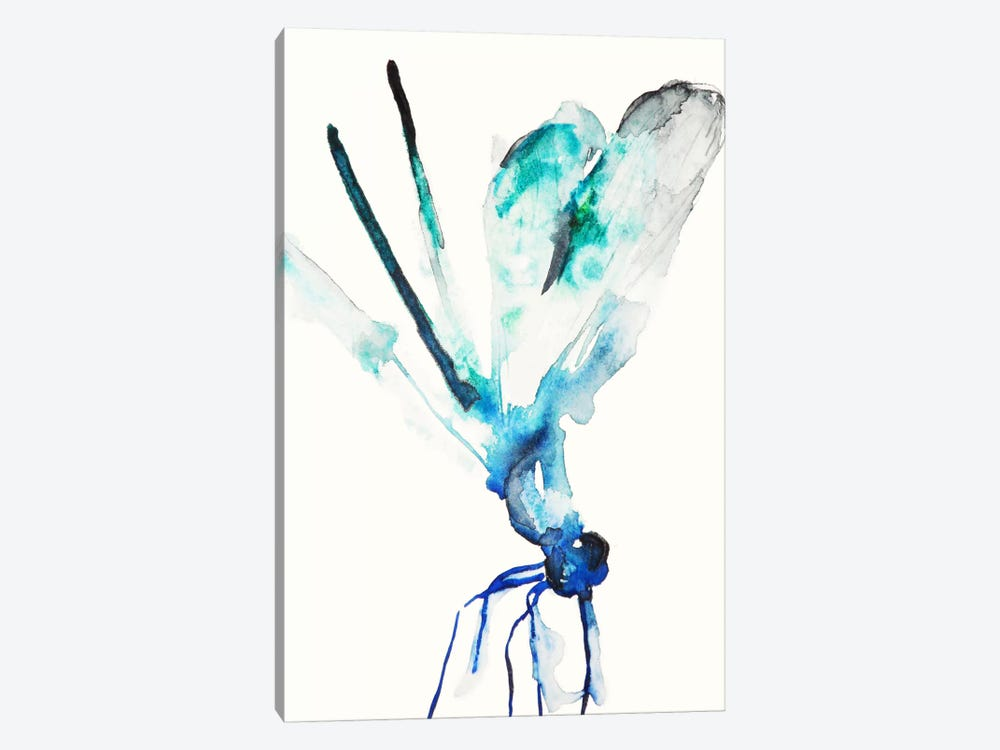 Blue & Green Dragonfly by Karin Johannesson 1-piece Canvas Art Print
