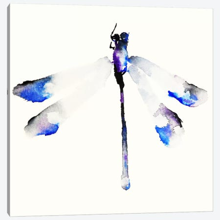 Blue & Violet Dragonfly Canvas Print #KJO3} by Karin Johannesson Canvas Art Print