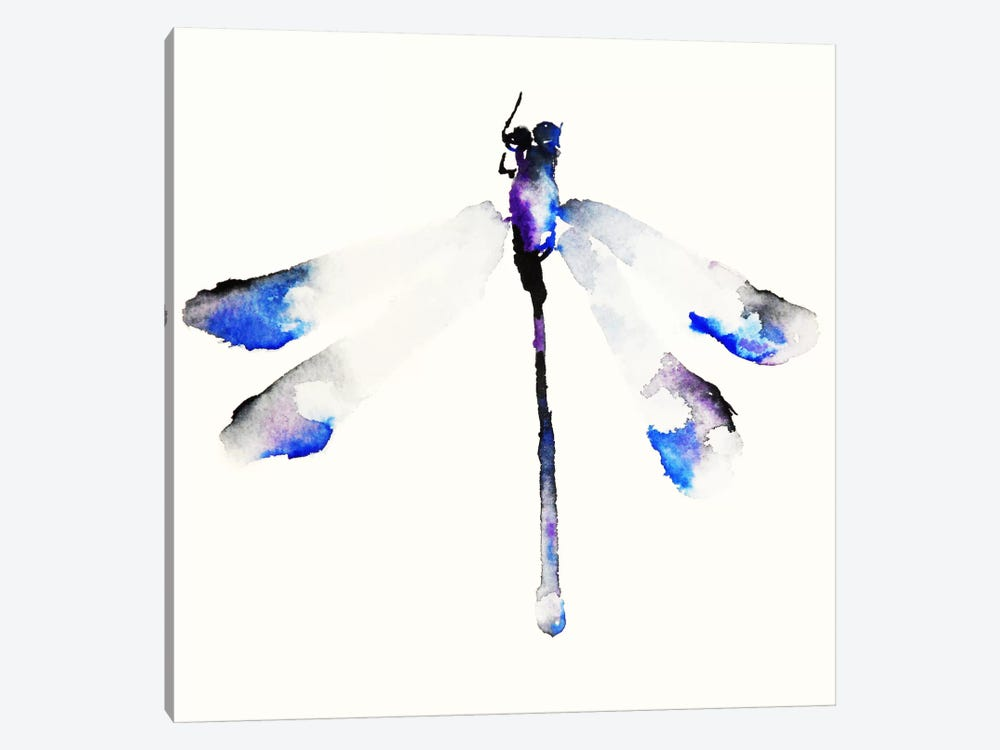 Blue & Violet Dragonfly 1-piece Canvas Wall Art