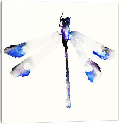 Blue & Violet Dragonfly Canvas Art Print