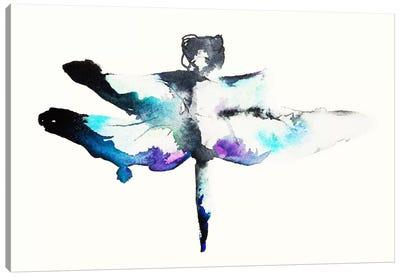 Turquoise & Violet Dragonfly Canvas Print #KJO4