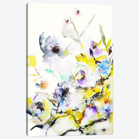 Summer Garden V Canvas Print #KJO6} by Karin Johannesson Canvas Art