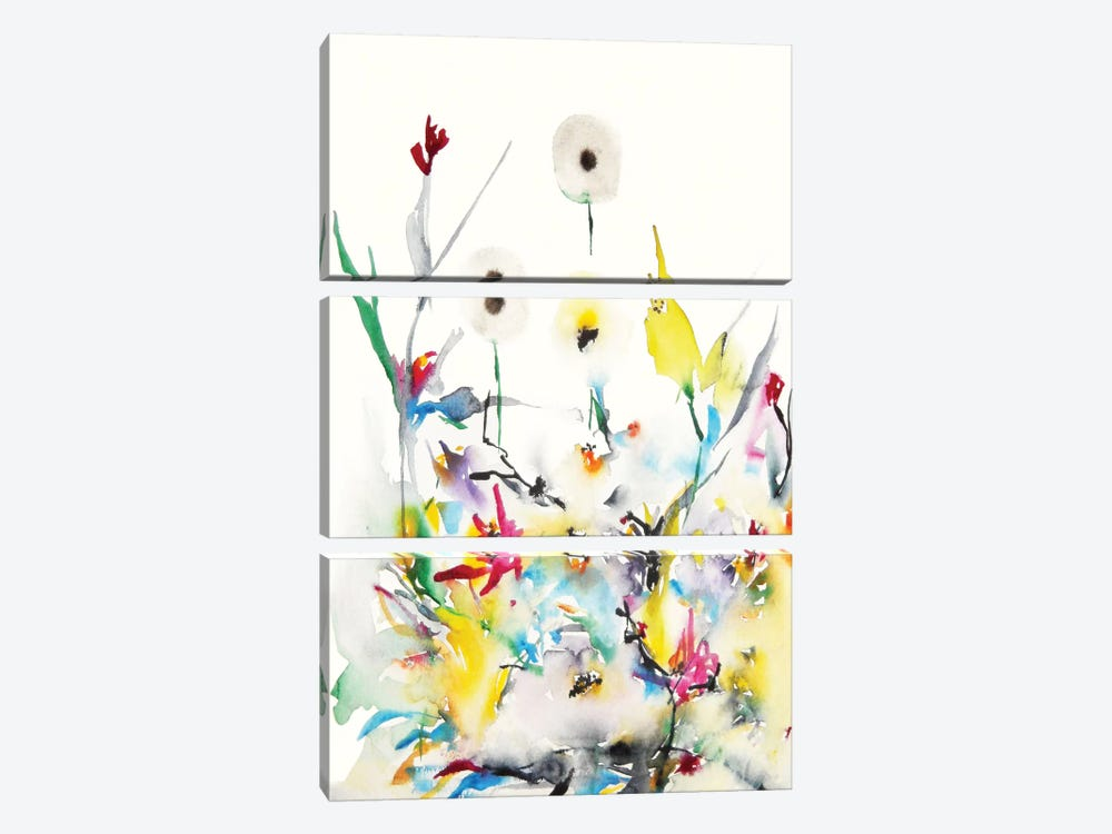 Summer Garden Vi 3-piece Canvas Wall Art