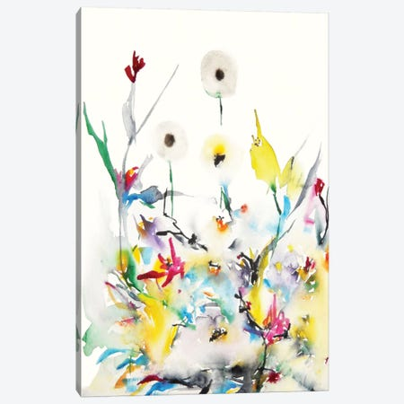 Summer Garden Vi Canvas Print #KJO7} by Karin Johannesson Canvas Wall Art