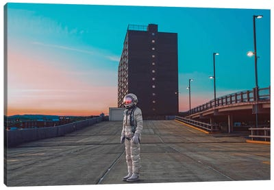 The Lonely Astronaut IV Canvas Art Print