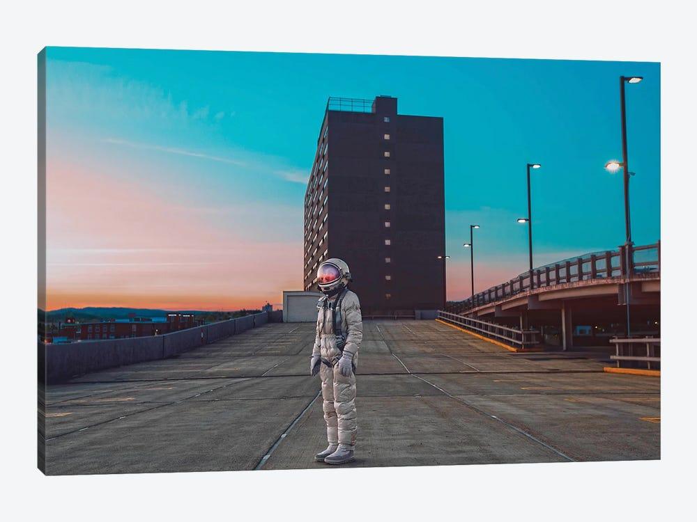 The Lonely Astronaut IV by Karen Jerzyk 1-piece Canvas Print