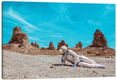 The Lonely Astronaut V Canvas Art Print