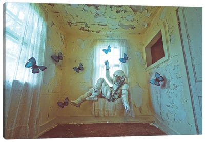The Lonely Astronaut VIII Canvas Art Print