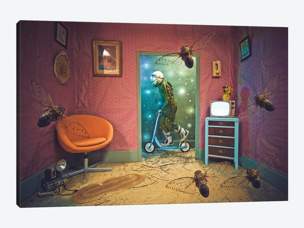 The Lonely Astronaut XVIII by Karen Jerzyk 1-piece Canvas Art Print