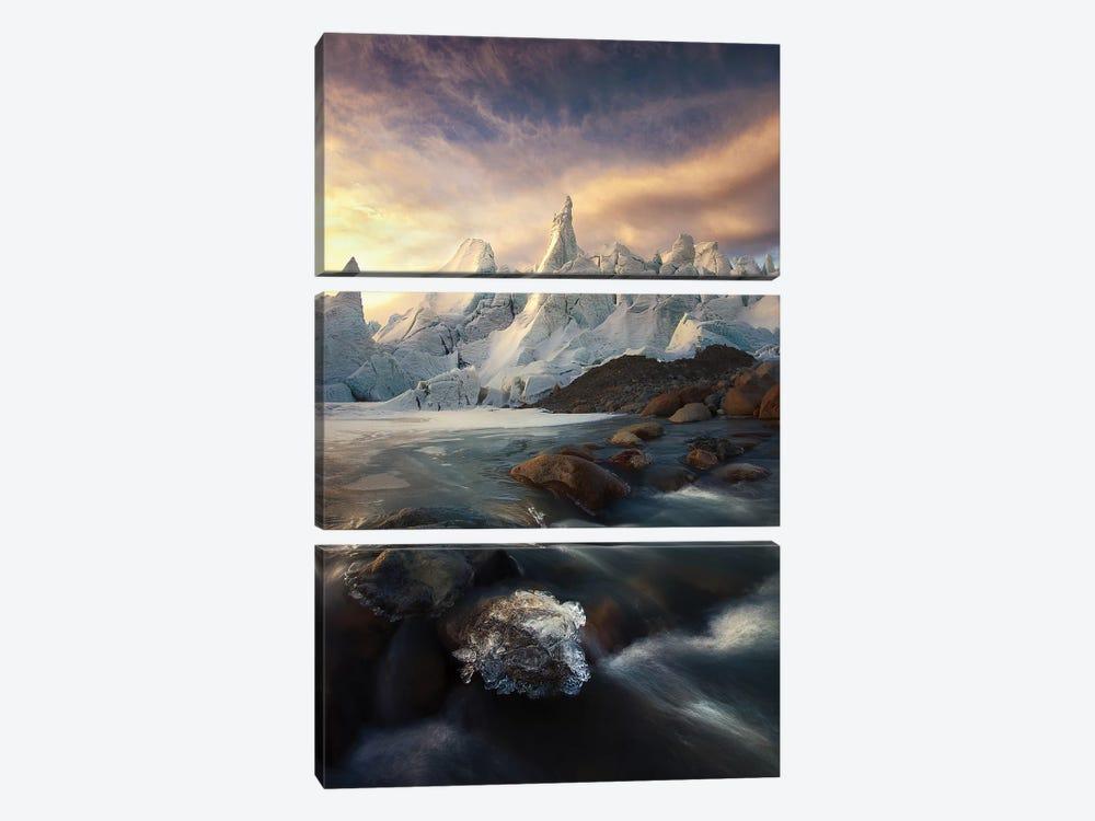 IceCaps by kaka 3-piece Canvas Print