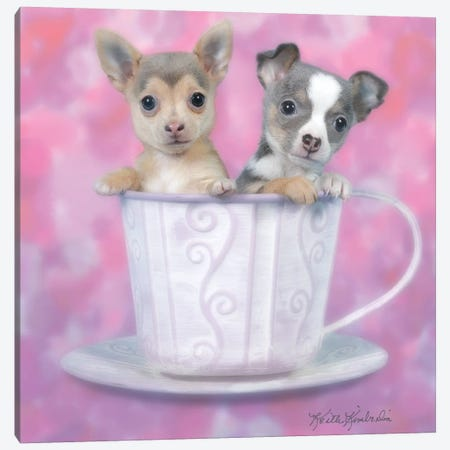 Tea for Two 3-Piece Canvas #KKI37} by Keith Kimberlin Canvas Wall Art