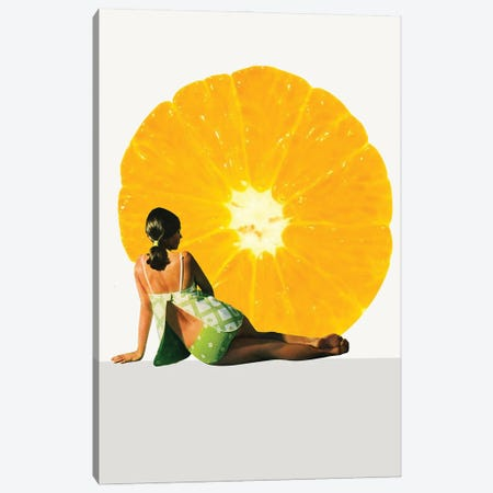 Sun Bathing Canvas Print #KKL104} by Kiki C Landon Canvas Print