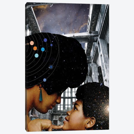 You Are My Universe Canvas Print #KKL127} by Kiki C Landon Canvas Art Print