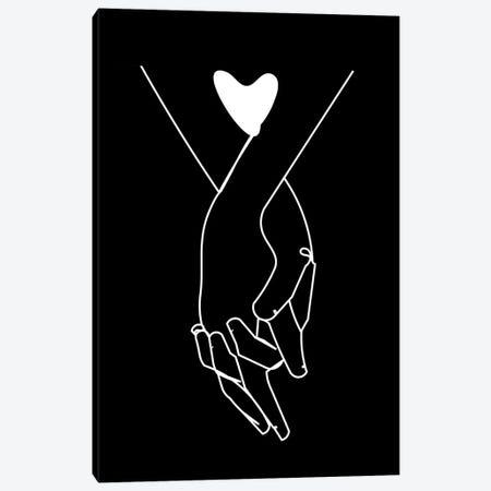 Holding Hands Canvas Print #KKL133} by Kiki C Landon Canvas Art Print